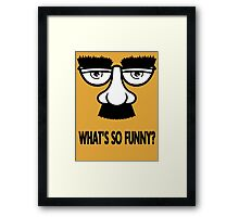 WHAT'S SO FUNNY? Framed Print