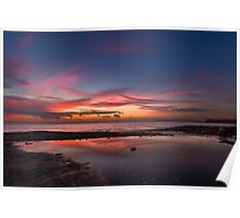 Brook Chine sunset Poster