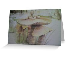 Fairy on Shroom Greeting Card