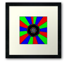 Colorful rays Framed Print