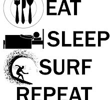 EAT-SLEEP-SURF-REPEAT by Philtrianojk