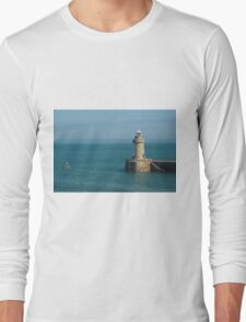 St Peter Port Harbour Lighthouse  Long Sleeve T-Shirt