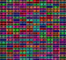 Polka dots rectangles abstract design by lalylaura