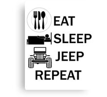 EAT-SLEEP-JEEP-REPEAT Canvas Print