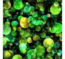 Green circles abstract design Photographic Print
