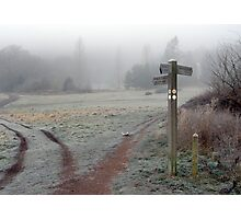 Frosty Footpath Photographic Print