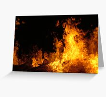 LEAPING FLAMES Greeting Card