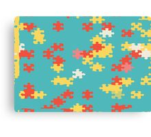 Puzzle pieces abstract design Canvas Print