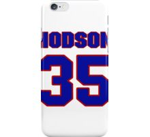 National Hockey player Kevin Hodson jersey 35 iPhone Case/Skin