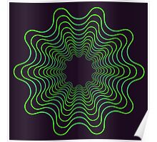 Green spirogram abstract design Poster