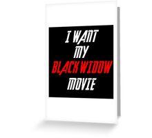 Black Widow Movie Sticker  Greeting Card