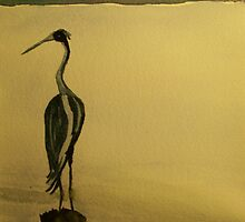 Lingering Heron by RLHall