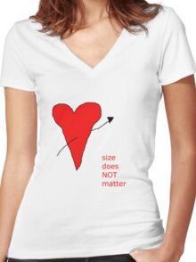 Size does not matter Women's Fitted V-Neck T-Shirt