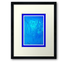 Neon Wire Framed Print