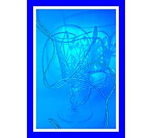 Neon Wire Photographic Print