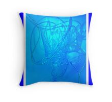 Neon Wire Throw Pillow
