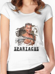 Spartacus - Blood and Sand - Andy Whitfield Women's Fitted Scoop T-Shirt
