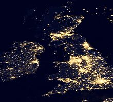 The UK At Night - United Kingdom At Night - As Seen From Space by verypeculiar