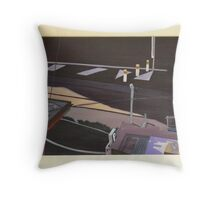 Tram Line (painting) Throw Pillow
