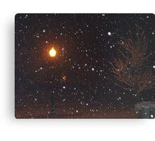 Late night snow Canvas Print
