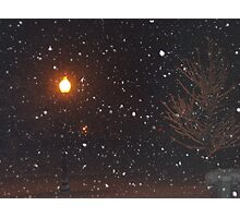 Late night snow Photographic Print