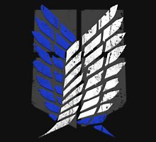 Attack On Titan - Survey Corps Logo (Blue Grunge v2) Unisex T-Shirt