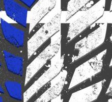 Attack On Titan - Survey Corps Logo (Blue Grunge v2) Sticker