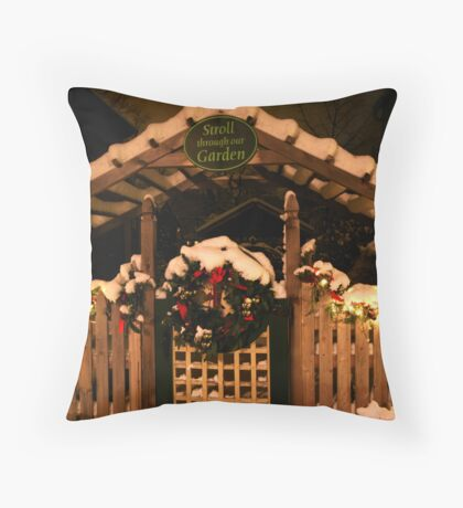 The Spirit of Christmas Past Throw Pillow