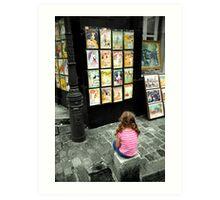 Art shines in the eyes of Children Art Print