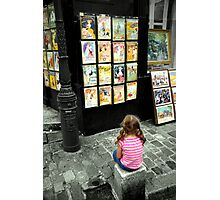 Art shines in the eyes of Children Photographic Print