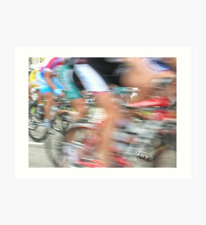 Cyclists in Motion Art Print