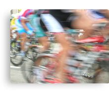 Cyclists in Motion Canvas Print