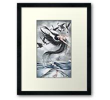 Raven Waves Framed Print