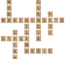 Warehouse Scrabble by dysfnctnlysane