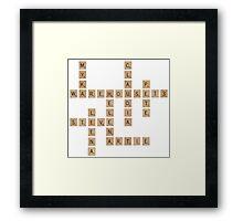 Warehouse Scrabble Framed Print