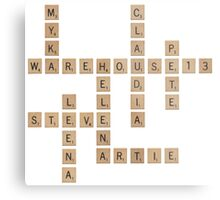 Warehouse Scrabble Metal Print