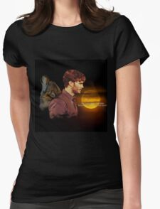Sheriff Graham - May you Always Run Free Womens Fitted T-Shirt