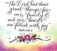 Joyful hearts inspirational verse Psalm 126 by Melissa Goza