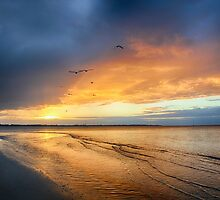 Stormy sunset Hervey Bay by Greta van der Rol