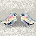 Exotic Silver Lovebirds by © Cassidy (Karin) Taylor