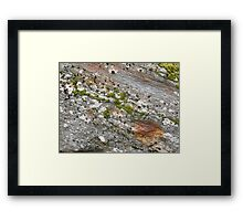 Glacier rock colours Framed Print
