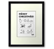 How To Have A Merry Christmas Framed Print