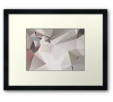 Abstract white gray triangles Framed Print