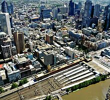 Melbourne From Above by Steven  Agius