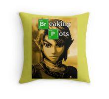 Breaking Pots Throw Pillow