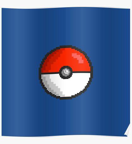 Pixel Pokeball Poster