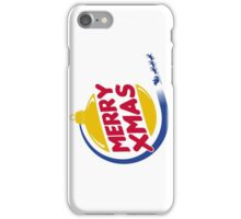 Burger Xmas iPhone Case/Skin