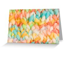 Bright knit background Greeting Card