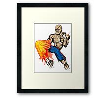 Tiger Knee Sagat Framed Print