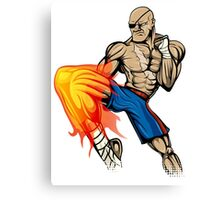 Tiger Knee Sagat Canvas Print